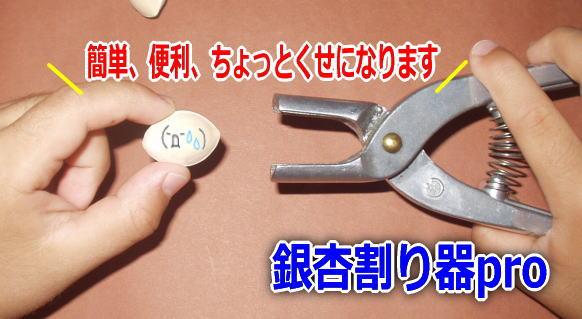 簡単便利な銀杏割り器